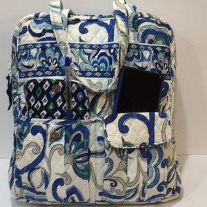 Vera Bradley large zippered tote bag, EUC